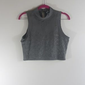 Gray Crop Top Women's Size Large